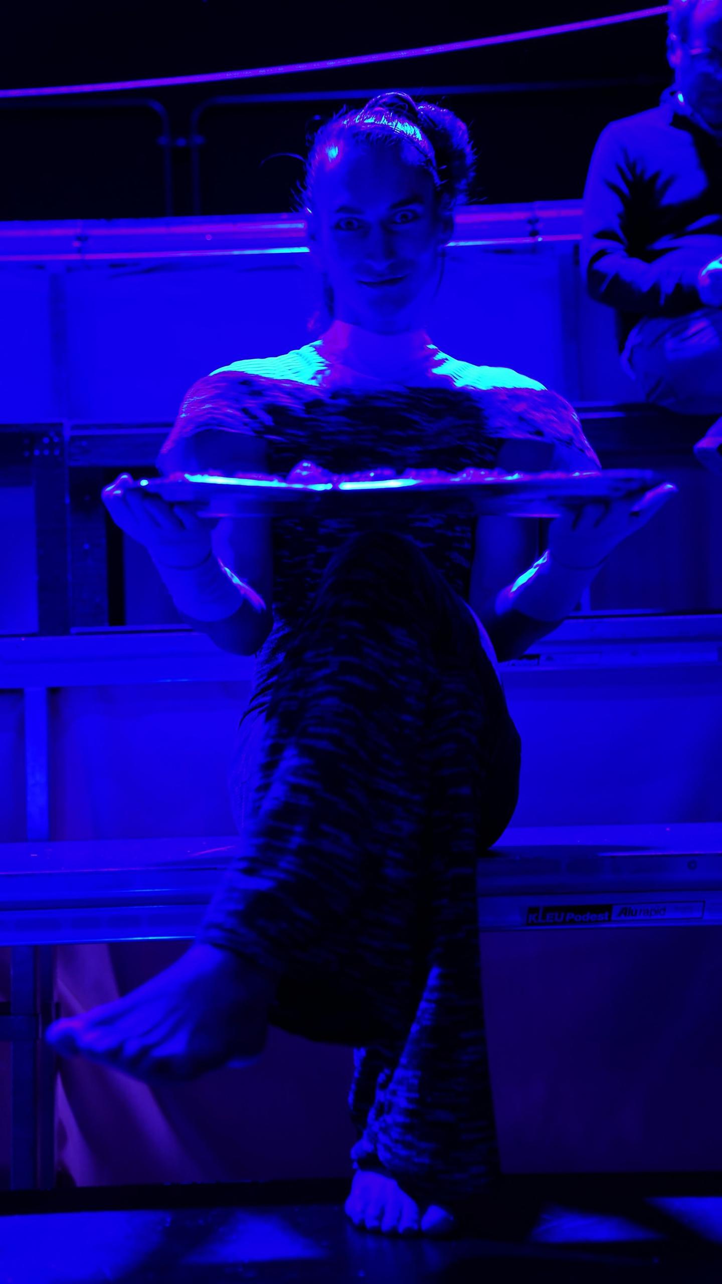 Marcel Gisdol als Amalia, in: »räuber • bachelor • paradise« von Julian Mahid Carly nach Friedrich Schiller Regie:Julian Mahid Carly