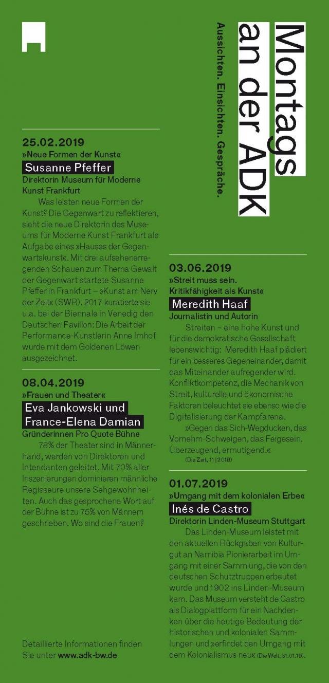 Akademie für Darstellende Kunst Baden-Württemberg - Maya Krishna Rao